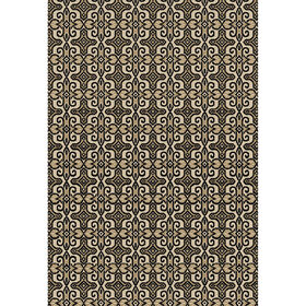 Picture of E148 Ivory and Black Tribal Rug