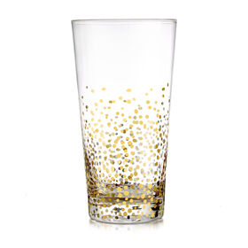 Gold Luster Highball Glasses - set of 4