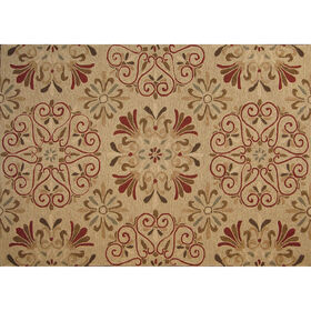 Picture of Zoe Cream Floral Suzani Rug 8 X 10 ft