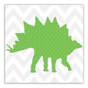 Picture of Green Dinosaur Small Accent Art- 12x12 in.