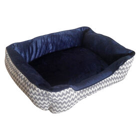 Picture of CHENILLE JACQUARD NAVY 22X18