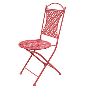 Picture of Round Stamped Fold Chair - Coral