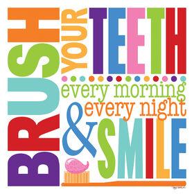 Picture of 22 X 22-in Bright Brush Teeth Children's Studio Art