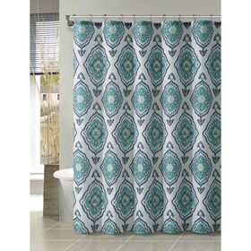Picture of Blue and White Shower Curtain