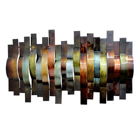 Picture of 24 X 39-in Multicolor Ribbons Wall Décor