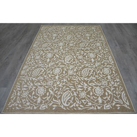Picture of Cancun Floral Rug- Beige 8x10-ft