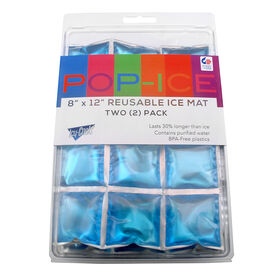 Picture of 8X12-in Pop Ice Blue Reusable Ice Mat - set of 2