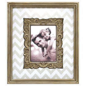 Picture of 5 X 7-in Champagne Chevron Frame