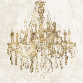 Picture of Glam Chandelier Contemporary Art- 35x35 in.