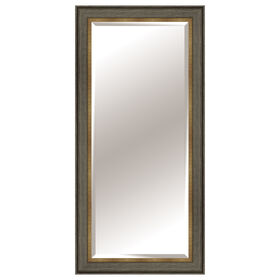 Picture of 24 X 58-in White & Gray Mirror with Burlap Liner