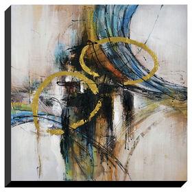 Picture of 30 X 30-in Blue Swirl Gallery Art