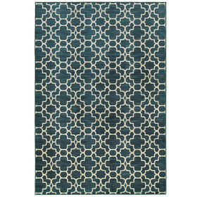 Picture of B266 Turquoise Double Geometric Rug