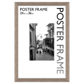 Picture of 24 X 36-in Gray Wood Grain Poster Frame