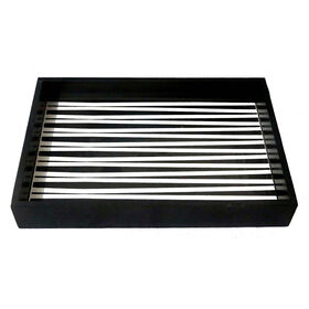 Picture of Black & White Geometric Rectangle Tray- 14 x 9.5-in