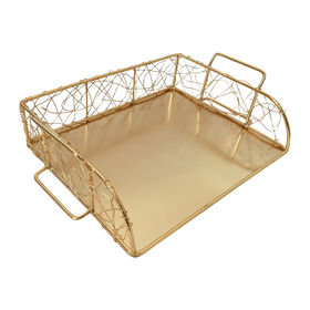 Picture of Wire Paper Tray - Gold