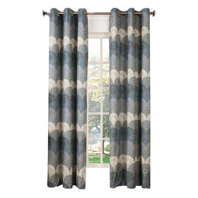 Picture of Navy Orion Window Curtain Panel 84-in