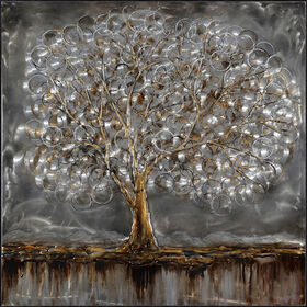 Picture of Silver Tree Canvas Art, 40x40-in.