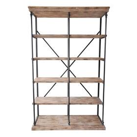 Picture of La Salle Metal and Wood 5-Tier Bookshelf