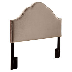 Picture of Glamour Studded Headboard- King Size Grey Velvet
