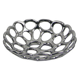 Picture of Silver Metal Cutout Tray 9.5-in