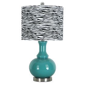 Picture of Blue Glass Ball Table Lamp 17-in (shade sold separately)