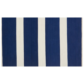 Picture of E157 Blue and White Striped Rug