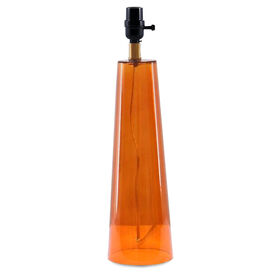 Picture of Orange Glass Triangle Table Lamp Base- 28.5-in