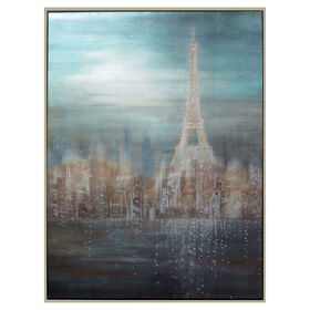 Picture of Embellished Paris Canvas Art- 36x48 in.