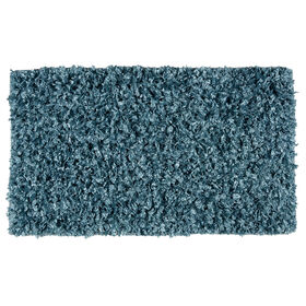 Picture of Turquoise Shiny Fur Shag Accent Rug 20 X 34-in