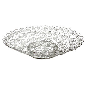 """Picture of 12"""" Silver and Crystal Bowl"""