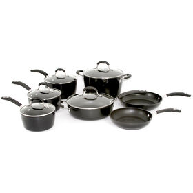 Picture of 12 Piece Forged Aluminum Cookware Set - Black