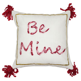 Picture of BE MINE W/MULTI POMS PILLOW
