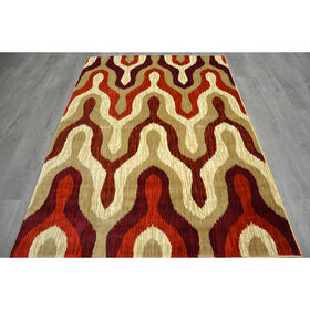 Picture of B165 Red Why Rug