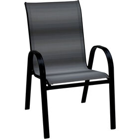 Picture of Steel Sling Chair, Gray and Black Ombre
