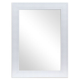 Picture of 22 X 28-in Bernice White Quilted Mirror