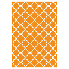 Picture of Orange and Snow Quad Tributary Rug 8 X 10 ft