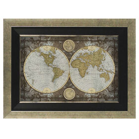 Picture of 24 X 36-in World Map Gallery Art