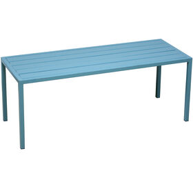 Picture of Spa Blue Slat Backless Bench
