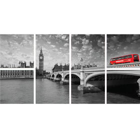 24 X 48-in Red London Bus Gallery Art- 6 Pack