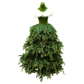 Picture of D7 68in Dress Form Green Christmas Tree