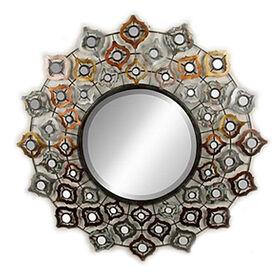 Picture of 30-in Metallic Quatrefoil Mirror