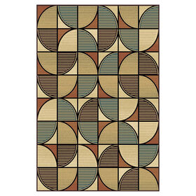 Picture of D175 Multicolor Geometric Wallace Rug- 5x7 ft