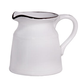 Picture of Large Turino Pitcher, White, 8-in