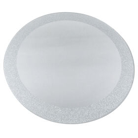 Picture of 12IN RND MIRROR SILVER GLTTR