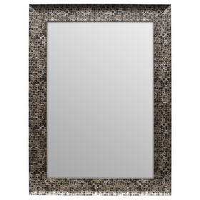 Picture of 24 X 36-in Pewter and Gray Beveled Olivia Mirror