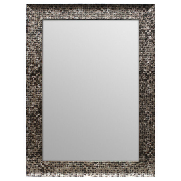 24 X 36 In Pewter And Gray Beveled Olivia Mirror At Home