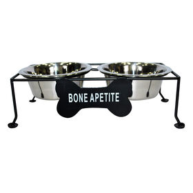 Picture of Bone Appetite Raise Dog Food and Water Bowl Set