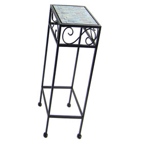 Picture of Black Mosaic Square Plant Stand - Small