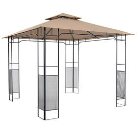 Picture of Steel Gazebo in Tan & Black- 10 x 10-ft