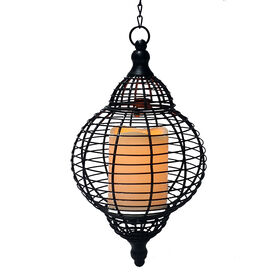 Picture of Metal LED Lantern- Black 11-in